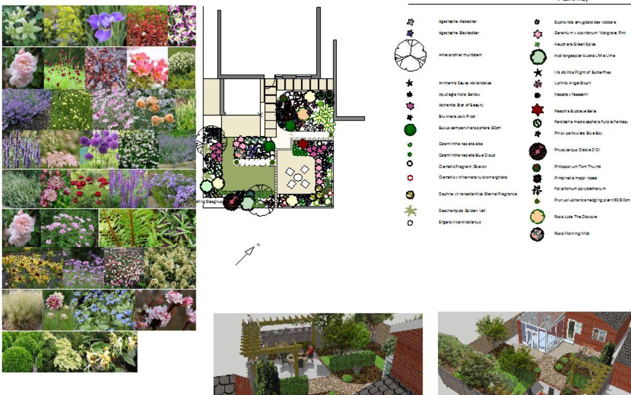 Dorset garden design plan