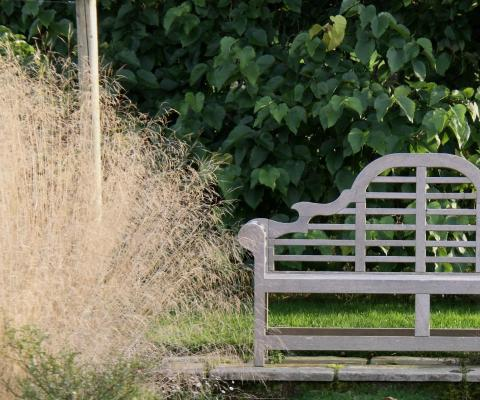 Country dorset garden bench
