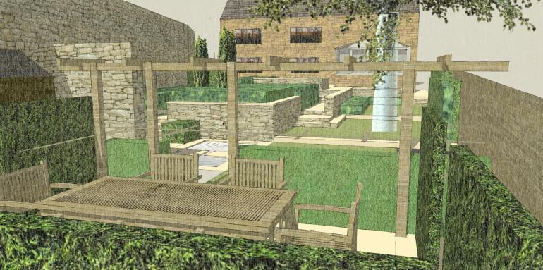 contemporary classic garden 3D model