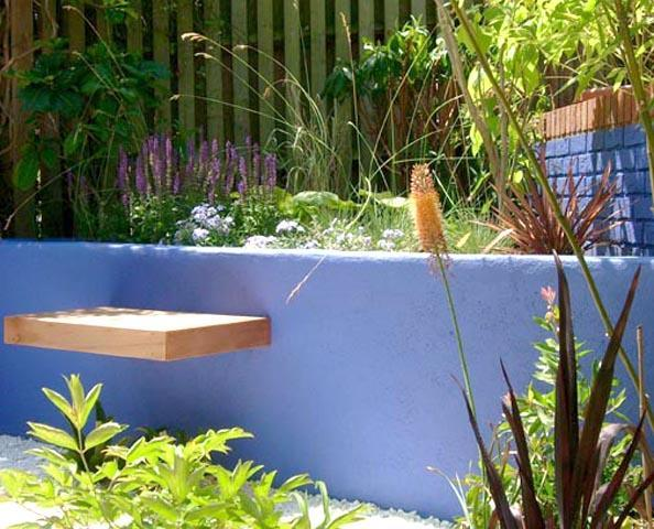 Tropical and mediterranean Dorset garden