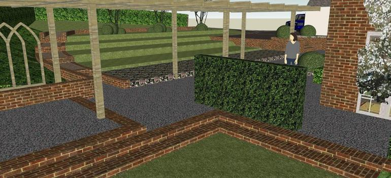 A Cheltenham garden 3D model