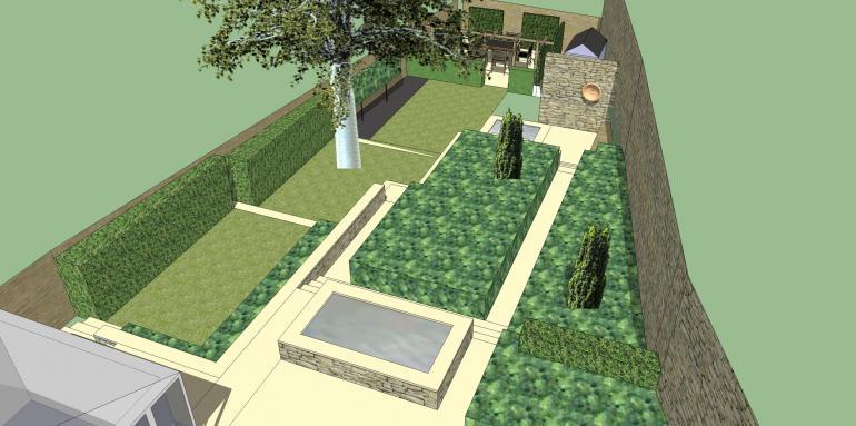 contemporary classic garden