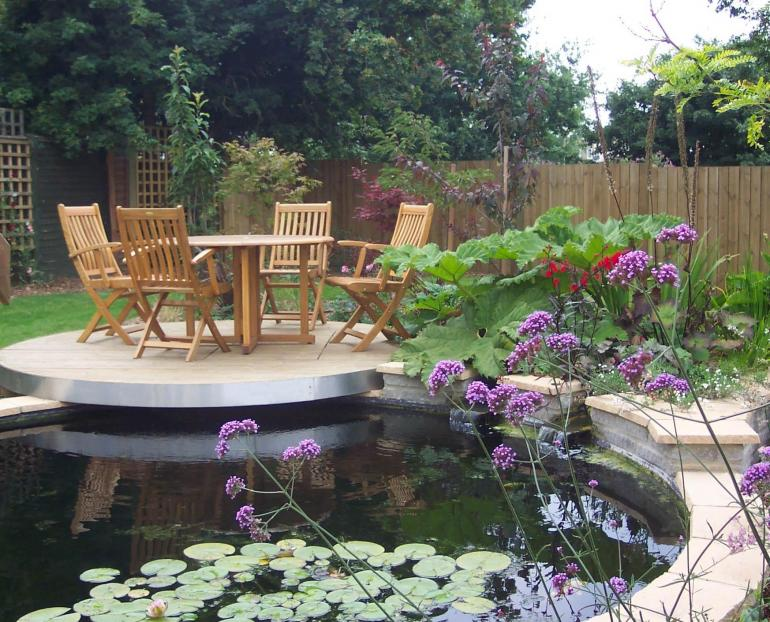 Contemporary Pond Garden Dorset Somerset