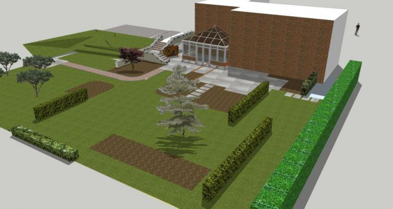 Country garden 3d model